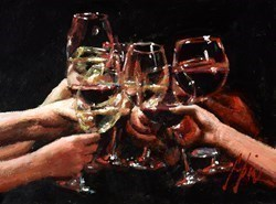 For a Better Life IX (Wine) by Fabian Perez -  sized 16x12 inches. Available from Whitewall Galleries